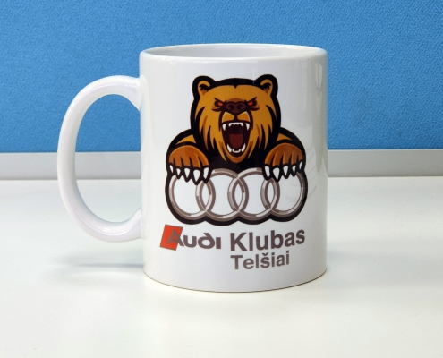 Sublimacinės spaudos puodelio su nuotrauka pavyzdys